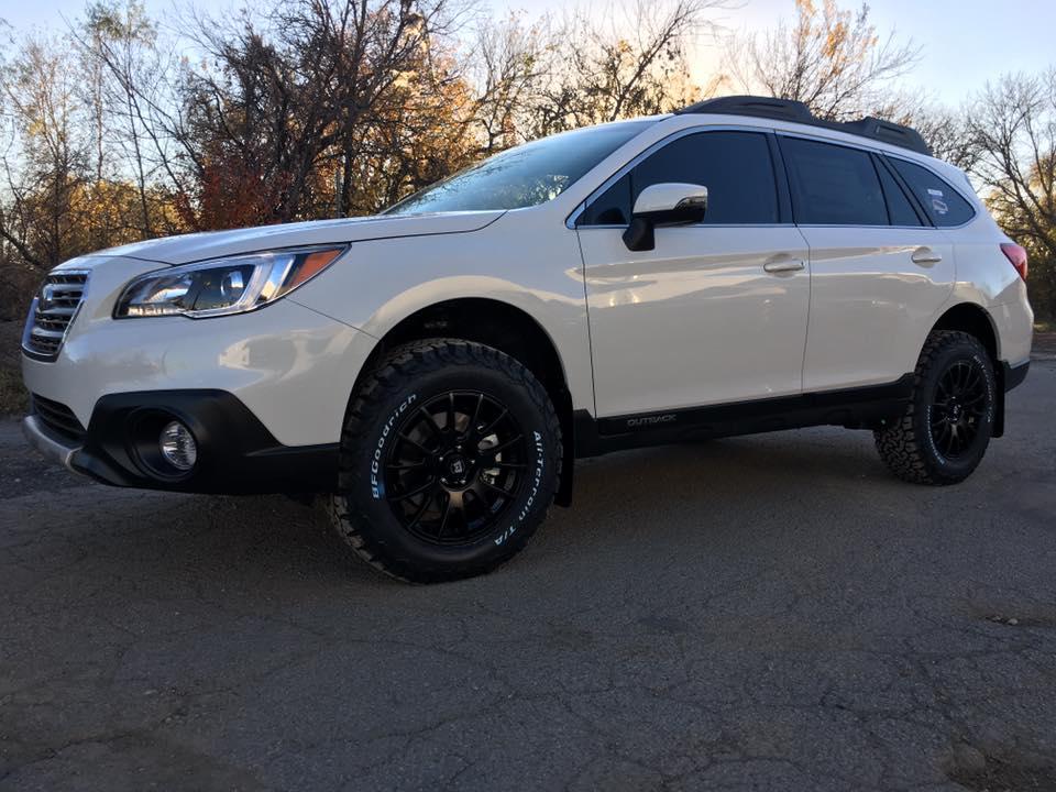 Subaru Outback White Integrity Customs
