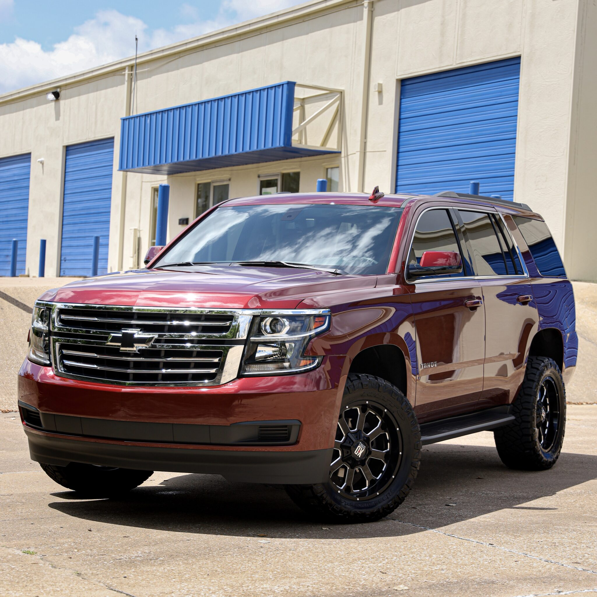 2020 Chevy Tahoe Red Integrity Customs